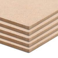 vidaXL MDF-Platten 4 Stück Quadratisch 60x60 cm 12 mm