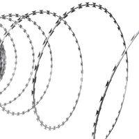 vidaXL NATO-Draht Klingendraht Rolle Verzinkter Stahl 100 m