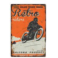 Motorrad Blechschilder - Wanddekoration Für Garage, Bar, Pub,