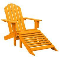 vidaXL Adirondack-Gartenstuhl mit Fußstütze Massivholz Tanne Orange