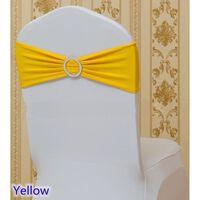 Spandex Schärpe Fliege Stuhlbezug mit runden Schnallen für