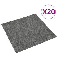 vidaXL Teppichfliesen 20 Stk. 5 m² Dunkelgrau