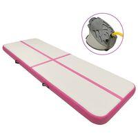 vidaXL Aufblasbare Gymnastikmatte mit Pumpe 300x100x20 cm PVC Rosa