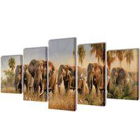 Bilder Dekoration Set Elefanten 200 x 100 cm