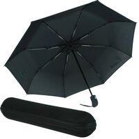 Automatisch Wind-resistenten Schwarzen Regenschirm Mit Etui Mit