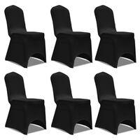 6 x Stuhlhusse Stretchhusse schwarz