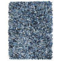 vidaXL Shaggy-Teppich Denim 190 x 280 cm Blau