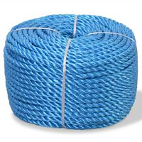vidaXL Polypropylenseil 10 mm 500 m Blau
