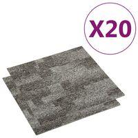 vidaXL Teppichfliesen 20 Stk. 5 m² Grau