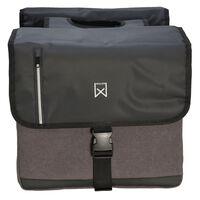 Willex Doppelte Business-Fahrradtasche 30 L Schwarz und Grau