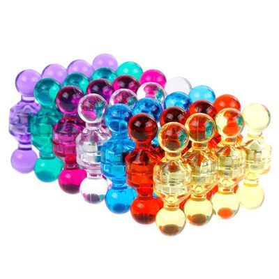 56 Stücke Farbige Bunte Transparente Magnete, Whiteboard