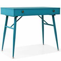 vidaXL Schreibtisch mit Schublade 90 x 50 x 76,5 cm Antikgrün