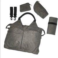 Wickeltasche Neckline Bag Kinderwagen, Schwarz Und Melange