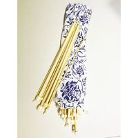 16 Paare/32 Stück Einfach Zugespitzte Bambus-stricknadeln