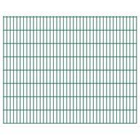 vidaXL 2D Gartenzaun-Elemente 2,008x1,63 m Gesamtlänge 16 m Grün