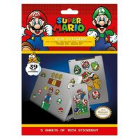Super Mario - 39x Aufklebern