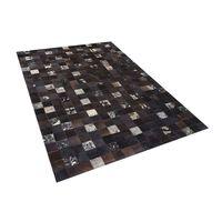 Teppich Leder braun 160 x 230 cm Patchwork BANDIRMA