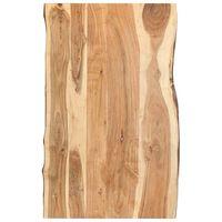 vidaXL Tischplatte Massivholz Akazie 100x(50-60)x3,8 cm