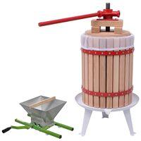vidaXL 2-tlg. Obst- & Weinpresse und Mühle-Set