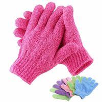 Körperwiderstandsmassage Schwamm Peeling Handschuh zum Duschen -