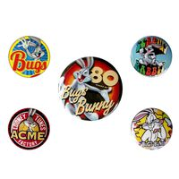 Looney Tunes, 5x Button Abzeichen - Bugs Bunny 80th