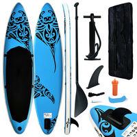vidaXL Aufblasbares Stand Up Paddle Board Set 366x76x15 cm Blau