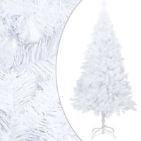 vidaXL Künstlicher Weihnachtsbaum mit Dicken Zweigen Weiß 120 cm PVC