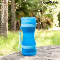 Tragbare Wasserflasche und Futternapf für Hunde