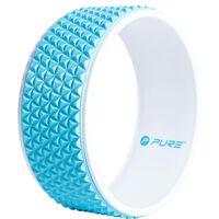 Pure2Improve Yoga-Rad 34 cm Blau und Weiß