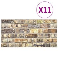 vidaXL 3D-Wandverkleidungen 11 Stk. Mehrfarbig Steinoptik EPS