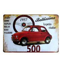 Vintage Nummernschild Metallschilder - Motorräder, Autos