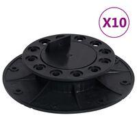 vidaXL Stelzlager Verstellbar 10 Stk. 25-40 mm