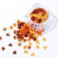 Chamäleon-Aufkleber für Nägel Herbst-Design-Dekor - holographische