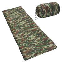 vidaXL Leichter Umschlag-Schlafsack für Kinder Camouflage 670g 15°C