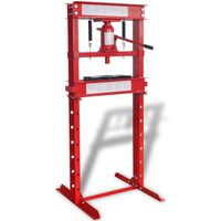 vidaXL Werkstattpresse 20 Tonnen Rot