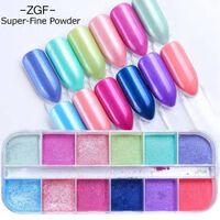 Ultradünne Pailletten-Nagel-Glitzer-Flocken in gemischten Farben -