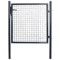 vidaXL Mesh-Gartentor Verzinkter Stahl 85,5x100 cm Grau