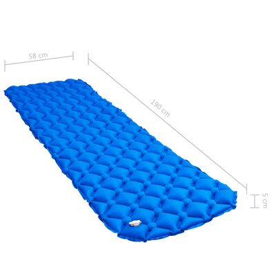 vidaXL Aufblasbare Isomatte 58 x 190 cm Blau