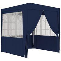 vidaXL Profi-Partyzelt mit Seitenwänden 2×2m Blau 90 g/m²