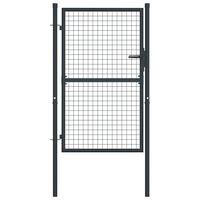 vidaXL Mesh-Gartentor Verzinkter Stahl 100 x 175 cm Grau