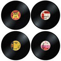 4x Tischsets - Vinylplatten