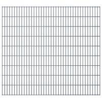 vidaXL 2D Gartenzaun-Elemente 2,008x1,83 m Gesamtlänge 20 m Grau