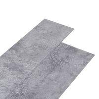 vidaXL PVC Laminat Dielen 5,26 m² 2 mm Zementgrau