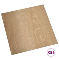 vidaXL PVC-Fliesen Selbstklebend 55 Stk. 5,11 m² Braun