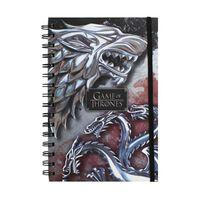 Game of Thrones Notizbuch - Wolf & Drache