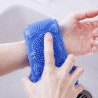 Silikonbürsten Badetücher Wäscher Bad lang zurückreiben Schlamm