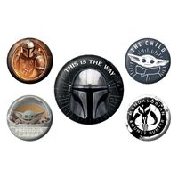The Mandalorian, 5x Button Abzeichen - This Is The Way