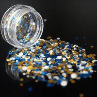 Glänzende runde ultradünne Pailletten bunte Nagelkunst