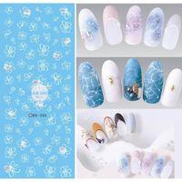 Elegante Blumen Nägel Kunst - Maniküre Wasser Aufkleber