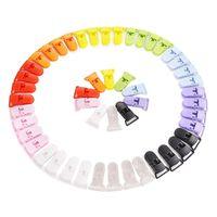 50pcs 10 Farben T-form Aus Kunststoff Baby Dummy Schnuller Clips